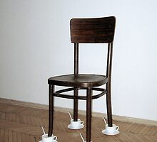 """Installation """" Untitled """" / repeat with the  Viennese chair by Alice NovoTny"""