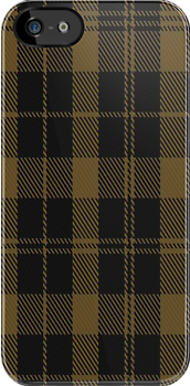 01516 Tyneside Scottish (Khaki) District Tartan Fabric Print Iphone Case by Detnecs2013