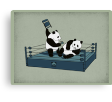 Pandamania Canvas Print