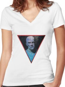 The Space Mummy Women's Fitted V-Neck T-Shirt
