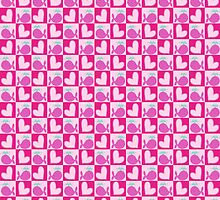 Heart Wahle Checkered Pattern by SaradaBoru