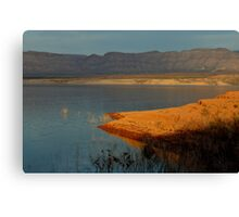 Lake Mead At Sunset Canvas Print