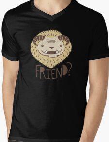 Friendly Beast Mens V-Neck T-Shirt