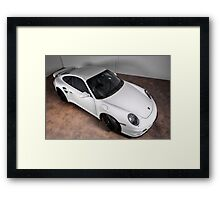 Porsche turbo in white Framed Print