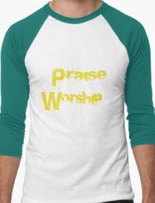 Praise v. Worship Men's Baseball ¾ T-Shirt