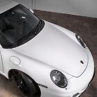 Porsche 911 turbo in white ipad cover by Martyn Franklin