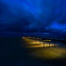 Saltburn Pier - Yellow & Blue by PaulBradley