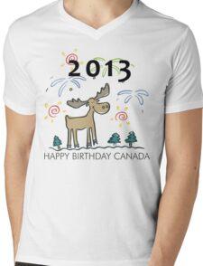 Happy Birthday Canada 2013 Mens V-Neck T-Shirt