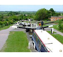 A grand view down........Foxton Locks, UK ! Photographic Print