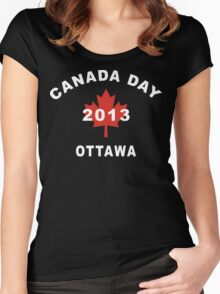 Canada Day 2013 Ottawa Women's Fitted Scoop T-Shirt