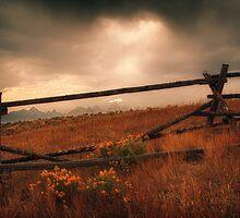 Fence Framing Teton Mountains by KellyHeaton