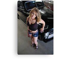 Shop girl with attitude  Canvas Print