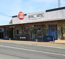 'Mt. Hope Hotel' the Kidman Way, a tiny country town. N.S.W. by Rita Blom