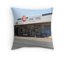 'Mt. Hope Hotel' the Kidman Way, a tiny country town. N.S.W. Throw Pillow
