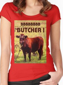 BUTCHER Women's Fitted Scoop T-Shirt