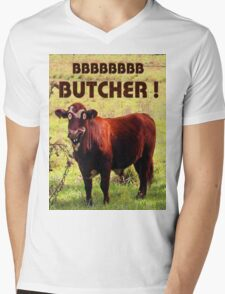 BUTCHER Mens V-Neck T-Shirt