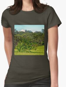 Fruit tree on a rural property Womens Fitted T-Shirt