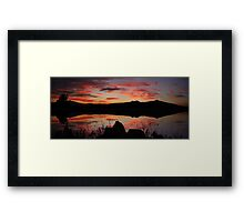 ©HCS Silly Red Sunset Framed Print