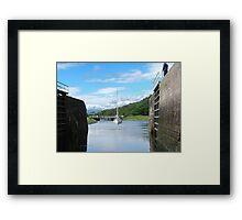 Entering Gairlochy Lock...............Scotland ! Framed Print