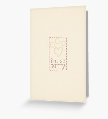 Pet Loss Sympathy From Single Pink Card Greeting Card