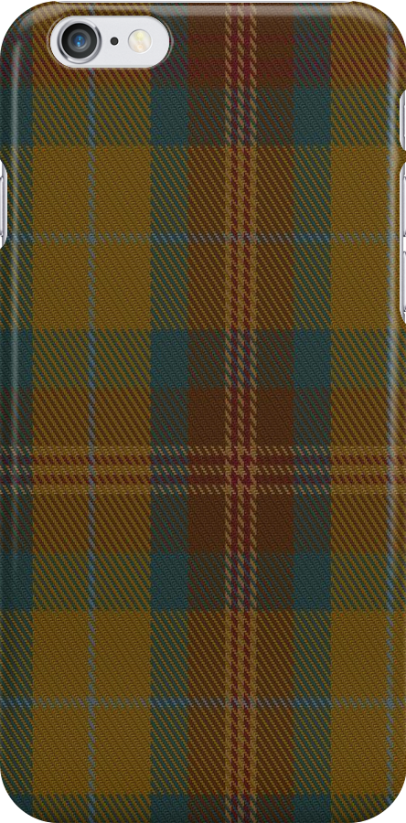 01546 Allen - Northumbrian Hunting Tartan Fabric Print Iphone Case by Detnecs2013
