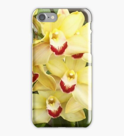 yellow orchids iPhone Case/Skin
