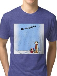 calvin and hobbes holiday  Tri-blend T-Shirt