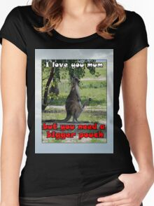 I LOVE YOU MUM Women's Fitted Scoop T-Shirt