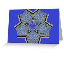 Five Petal Kaleidoscope Greeting Card