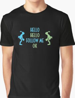Oddworld Abe's Oddysee Hello (Blue & Green) Graphic T-Shirt