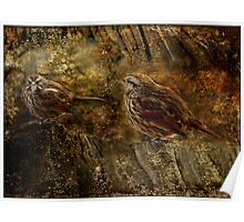 Woodland Sparrows Poster