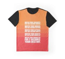 Watch Your Thoughts for they Become Words... - Lao Tzu Graphic T-Shirt
