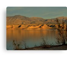Sunset At Lake Mead Canvas Print
