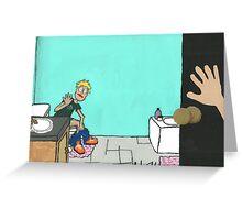 Bathroom Barge-in Greeting Card