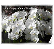 Sympathy and Condolences Poster
