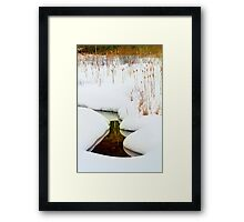 Reflections in the Snow Framed Print