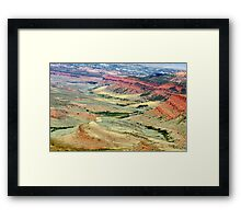 Red Canyon, Wyoming Framed Print