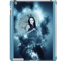 A female model in her 20s dressed as a Japanese with white make up iPad Case/Skin
