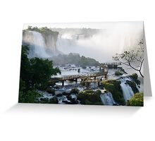 Walkway at the Iguassu Falls Greeting Card