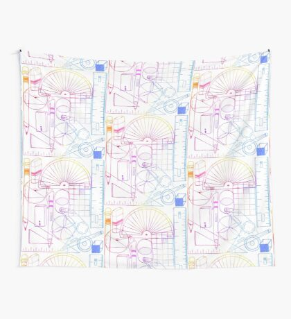 Math & Science Tools 2 Wall Tapestry