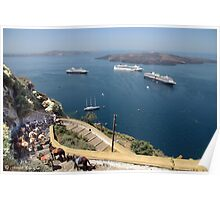 A Greek view @ Santorini 2 (see large) Poster