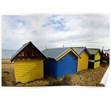Facing the water - Brighton Beach Boxes - Australia Poster
