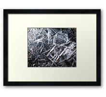 Ice Patterns Framed Print