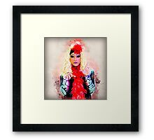 Drag Queen with blond wig Framed Print
