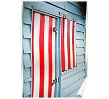 Candy striped - Brighton Beach Boxes - Australia Poster