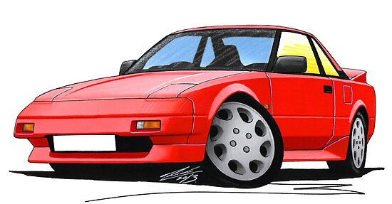Toyota MR2 (Mk1) Red by Richard Yeomans
