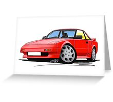 Toyota MR2 (Mk1) Red Greeting Card
