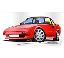 Toyota MR2 (Mk1) Red Poster