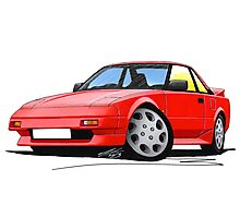 Toyota MR2 (Mk1) Red Photographic Print