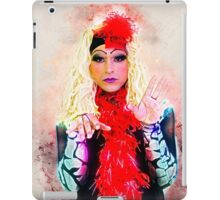 Drag Queen with blond wig iPad Case/Skin